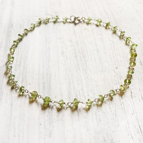PERIDOT SILVER ANKLET - SILBERUH