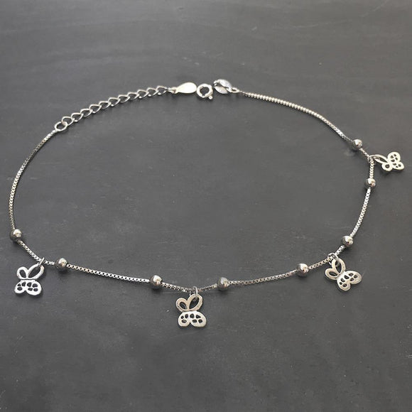 BUTTERFLY SILVER ANKLET - SILBERUH
