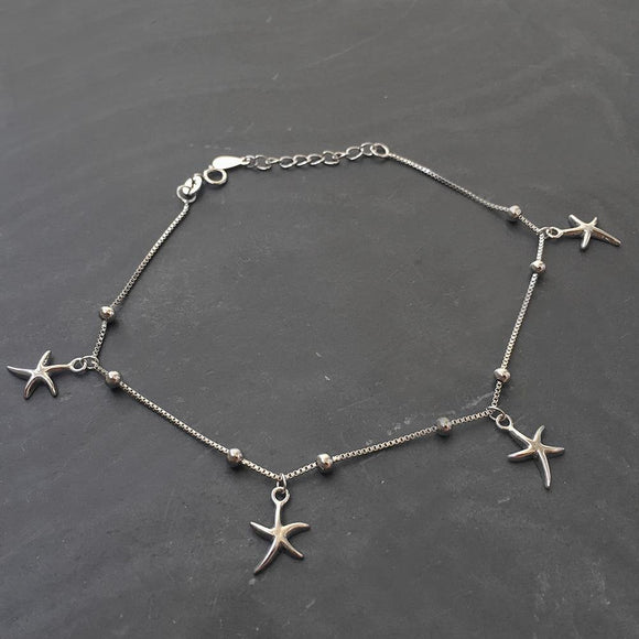STARFISH SILVER ANKLET - SILBERUH