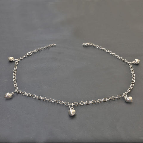 HEART SILVER ANKLET - SILBERUH