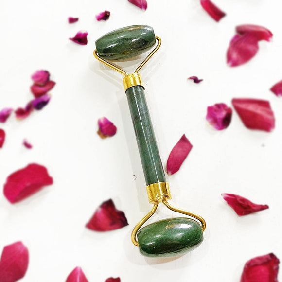 GREEN AVENTURINE FACE MASSAGE ROLLER