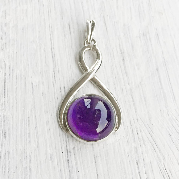 AMETHYST KNOT SILVER PENDANT - SILBERUH