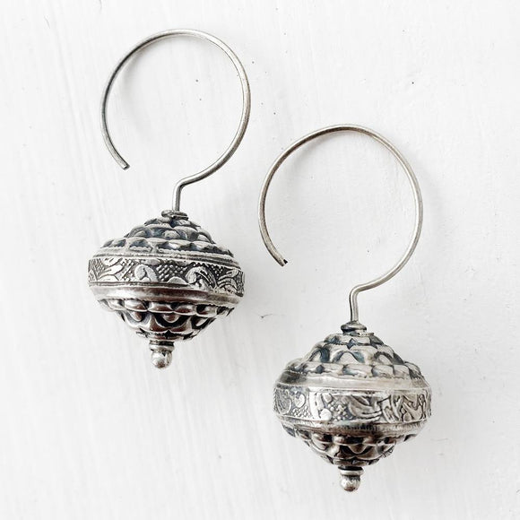 DHOLAK SILVER EARRINGS