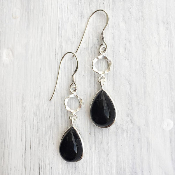 BLACK ONYX PITTAI EARRING - SILBERUH