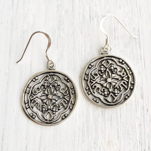 ROUND VICTORIAN FILIGREE EARRING - SILBERUH