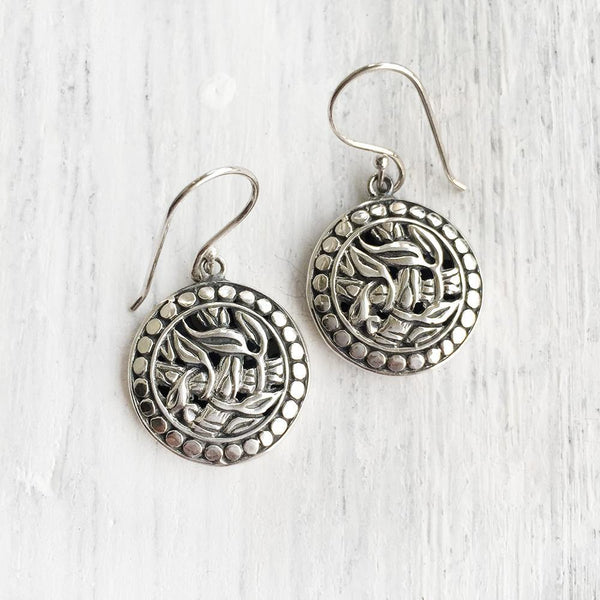 NATURE INSPIRED SILVER EARRING - SILBERUH