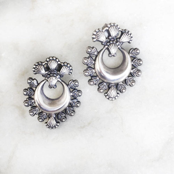 CHAND SILVER STUD - SILBERUH
