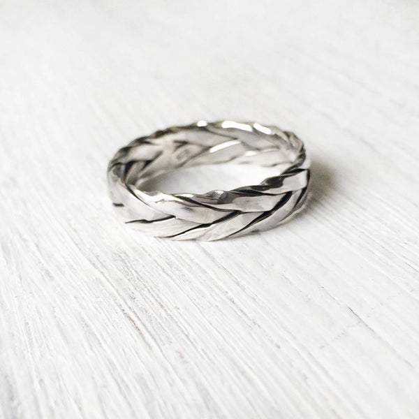 SILVER KNOT BAND RING - SILBERUH
