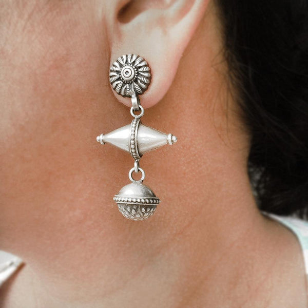 TRIBAL SILVER EARRING - SILBERUH