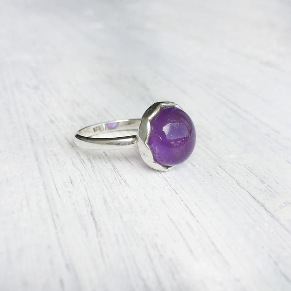 AMETHYST KNOT SILVER RING - SILBERUH