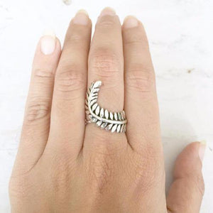 LEAF SILVER RING - SILBERUH