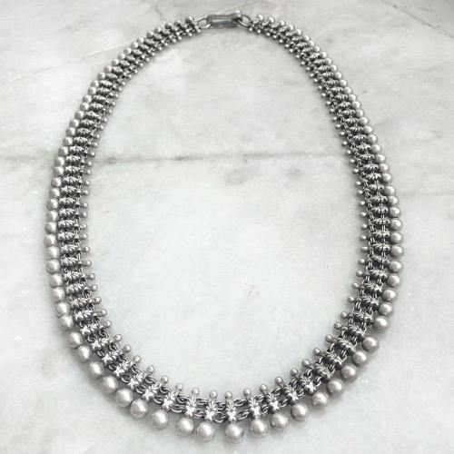 TRIBAL SILVER BALL NECKLACE