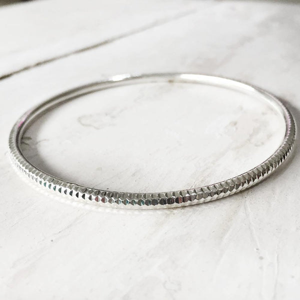 SIMPLE SILVER BANGLES - SILBERUH