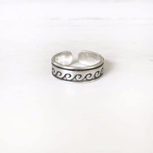 SILVER WAVE TOE RING - SILBERUH