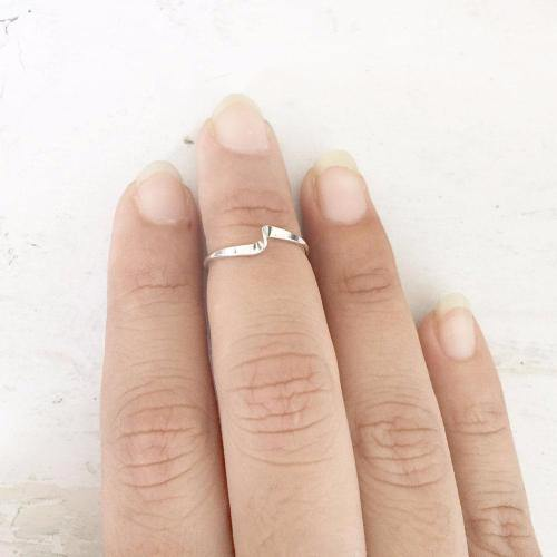 SILVER WAVE MIDI RING - SILBERUH