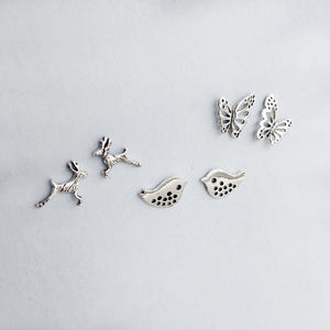 SET OF ANIMAL KINGDOM STUDS - SILBERUH