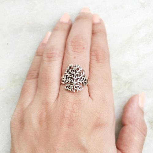 TREE OF LIFE SILVER RING - SILBERUH