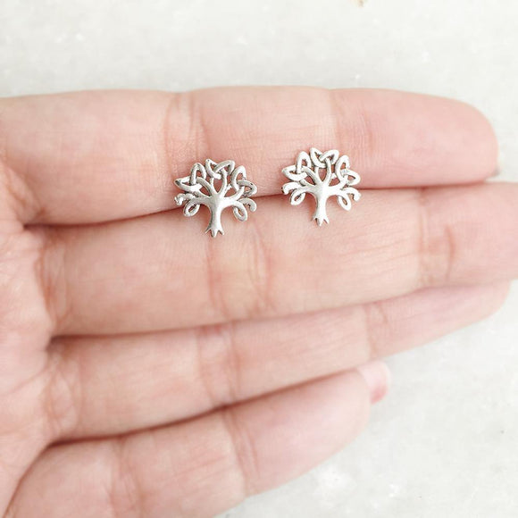 TREE OF LIFE SILVER STUD - SILBERUH