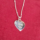 I LOVE YOU SILVER PENDANT - SILBERUH