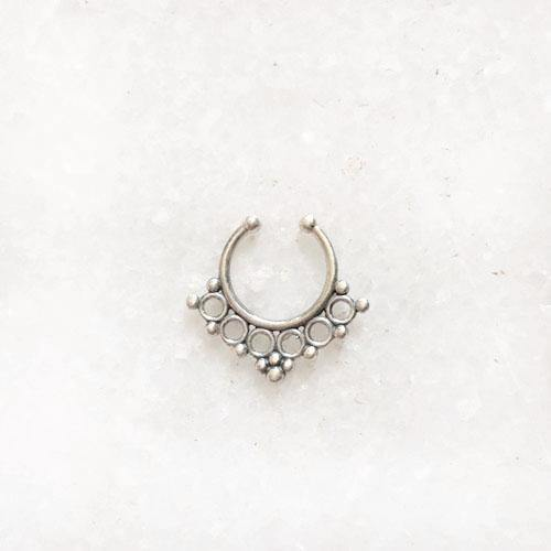 BANJARA SILVER SEPTUM NOSE RING