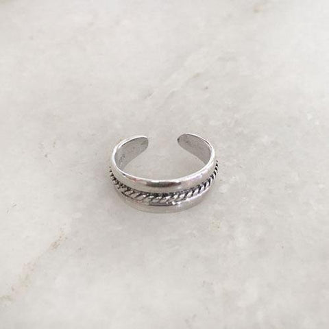 KNOTTED SILVER TOE RING - SILBERUH