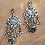 PEACOCK TRIBAL SILVER EARRING - SILBERUH