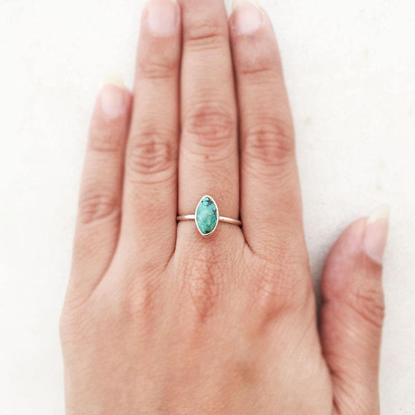 TURQUOISE SILVER RING - SILBERUH
