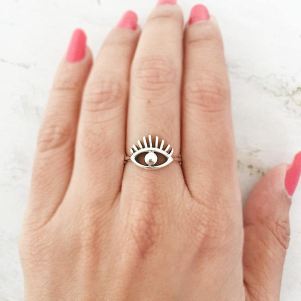 EYE SILVER RING - SILBERUH
