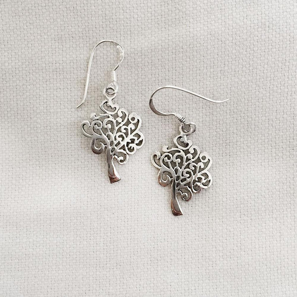 TREE OF LIFE SILVER EARRING - SILBERUH