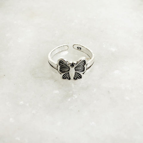 BUTTERFLY SILVER TOE RING - SILBERUH