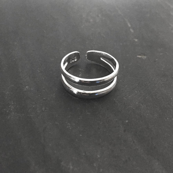 SILVER ADJUSTABLE TOE RING - SILBERUH