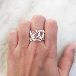 KNOTS SILVER RING - SILBERUH
