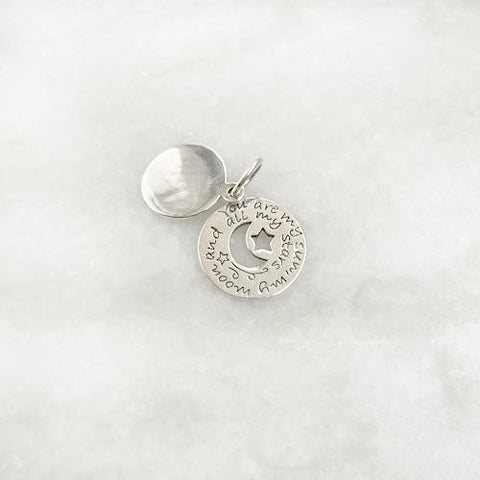 """YOU ARE MY SUN MY MOON & ALL MY STARS"" SILVER PENDANT - SILBERUH"