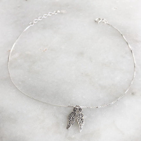 ANGEL WING SILVER ANKLET - SILBERUH
