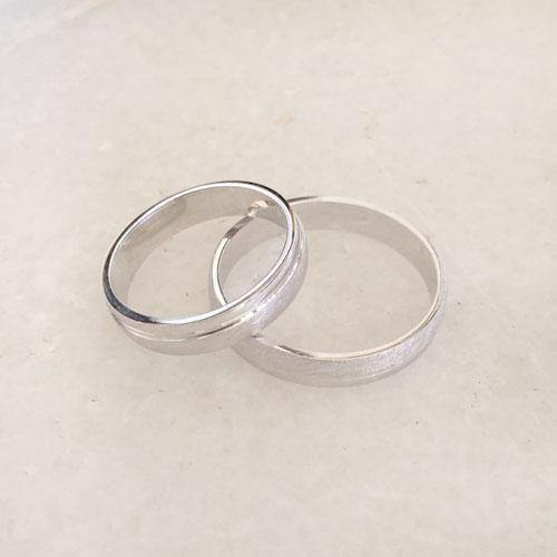 COUPLE SILVER RING - SILBERUH