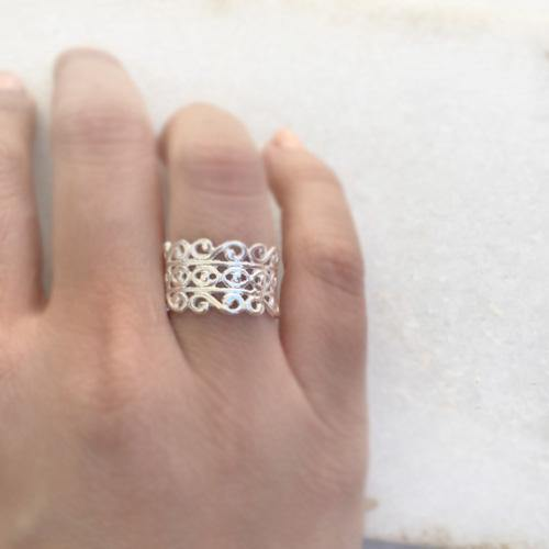 FILIGREE SILVER BAND - SILBERUH