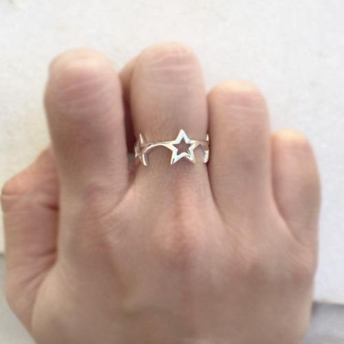 STAR SILVER BAND RING - SILBERUH