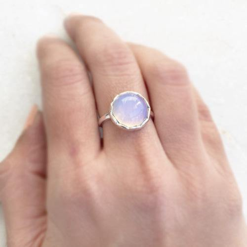 OPALITE KNOT SILVER RING