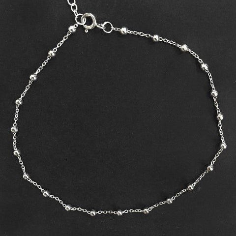BALL SILVER ANKLET - SILBERUH
