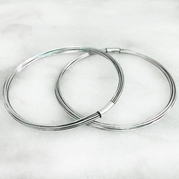 SILVER WIRE BANGLE - SILBERUH