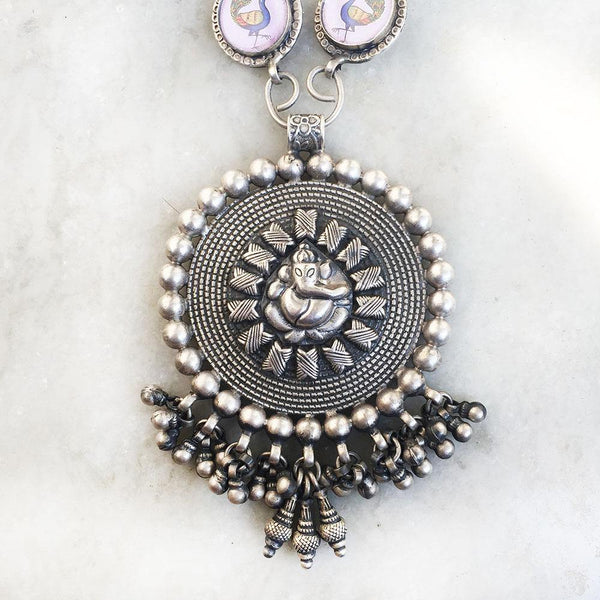 GANESH TRIBAL SILVER NECKLACE - SILBERUH