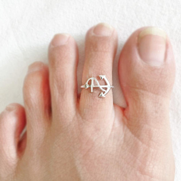SILVER  ANCHOR TOE RING - SILBERUH