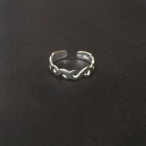'S' SILVER TOE RING - SILBERUH