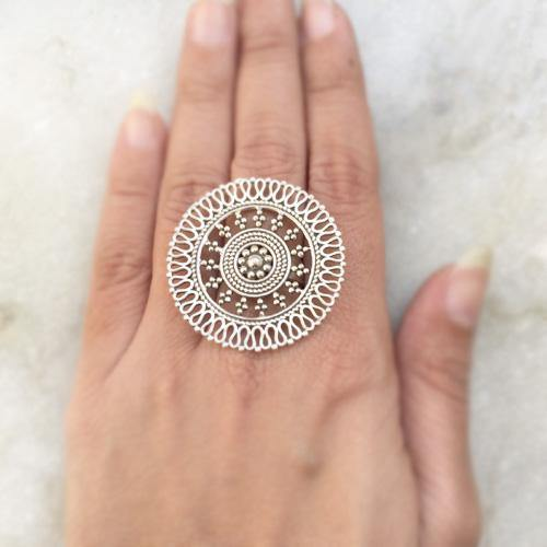 JALI SILVER TRIBAL RING - SILBERUH
