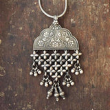 FLORAL TRIBAL SILVER PENDANT - SILBERUH