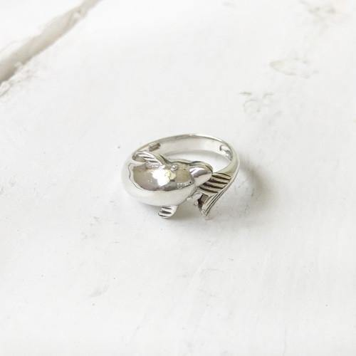 DOLPHIN SILVER RING - SILBERUH