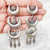 CHAND SILVER TRIBAL EARRING - SILBERUH