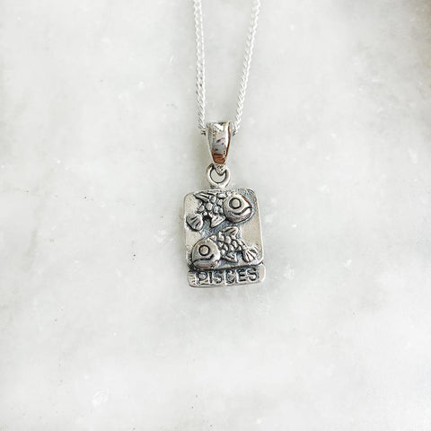 PISCES SILVER PENDANT - SILBERUH