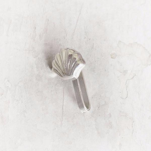 SEA SHELL SILVER  NOSE CLIP - SILBERUH