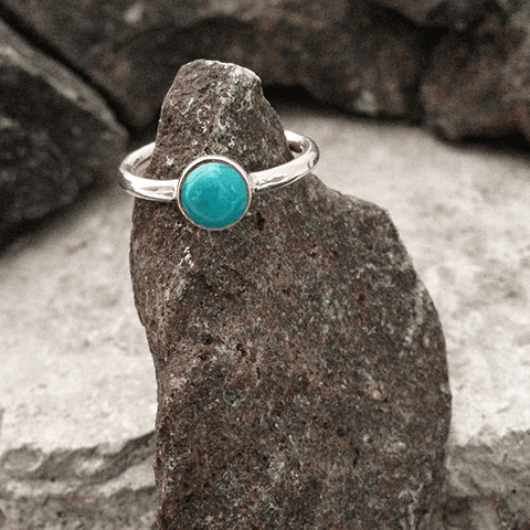 STACKING TURQUOISE RING - SILBERUH